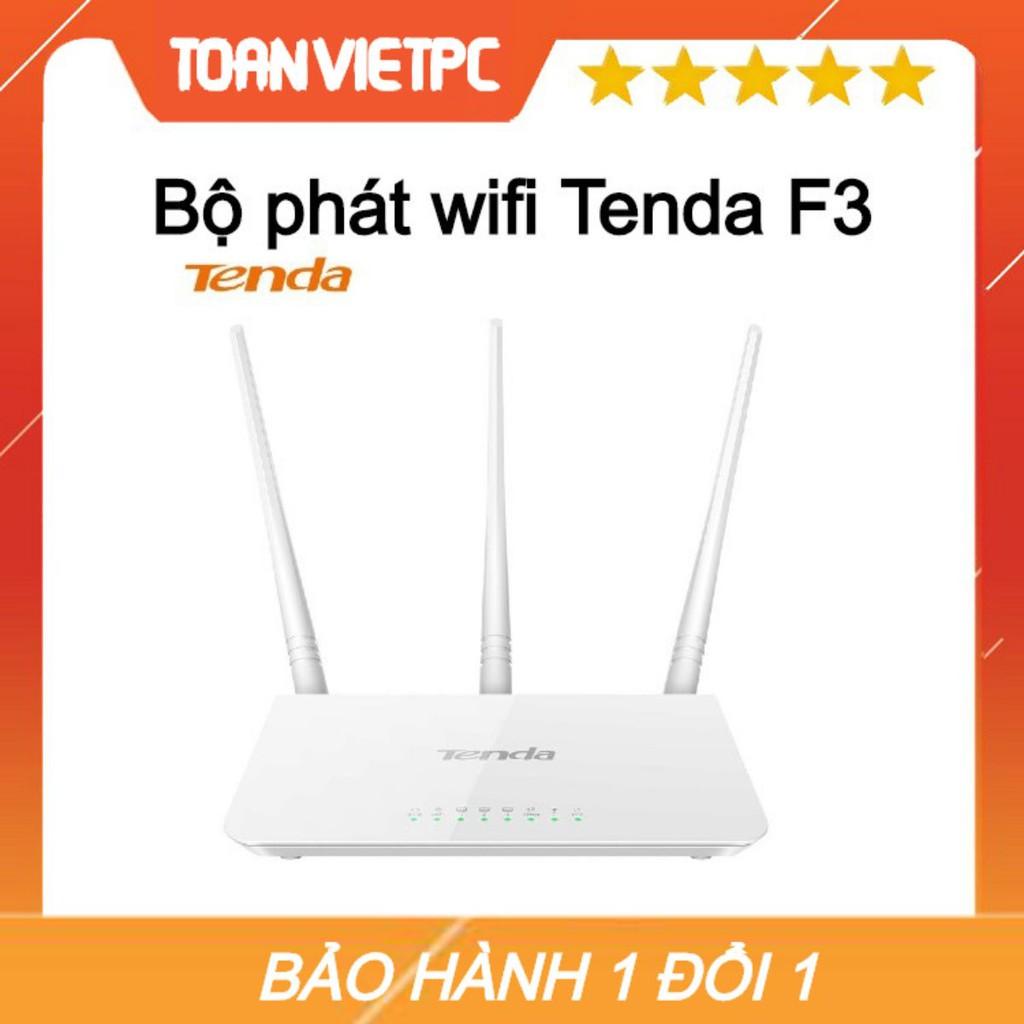 Thiết bị phát sóng WIFI 3 anten 300M TENDA F3