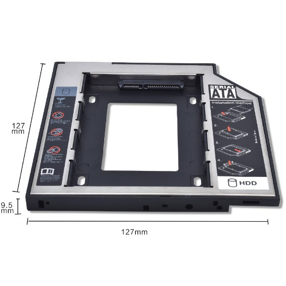 Caddy Bay 9.5mm SATA 3.0 cho laptop