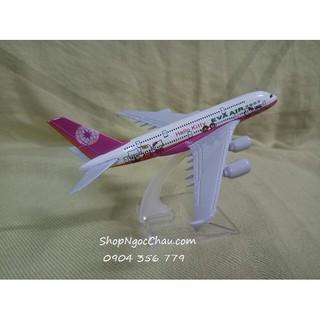Mô hình máy bay A380 Eva Air – Hello Kitty Pink 16cm