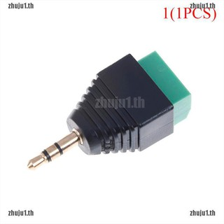 ZH] Stereo male to av screw video terminal 3 5mm jack 3 pin