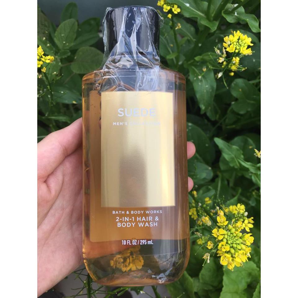Sữa Tắm Gội Nam Bath & Body Works - Suede Men's Collection - 2in1 Hair + Body Wash 295mL