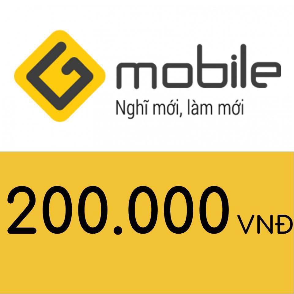 Nạp điện thoại Gmobile 200K