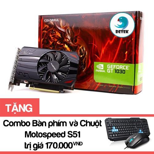 Card màn hình VGA Colorful GT 1030 2G + Tặng kèm Combo bàn phím và chuột Motospeed S51 - 2550249 , 754099372 , 322_754099372 , 2299000 , Card-man-hinh-VGA-Colorful-GT-1030-2G-Tang-kem-Combo-ban-phim-va-chuot-Motospeed-S51-322_754099372 , shopee.vn , Card màn hình VGA Colorful GT 1030 2G + Tặng kèm Combo bàn phím và chuột Motospeed S51