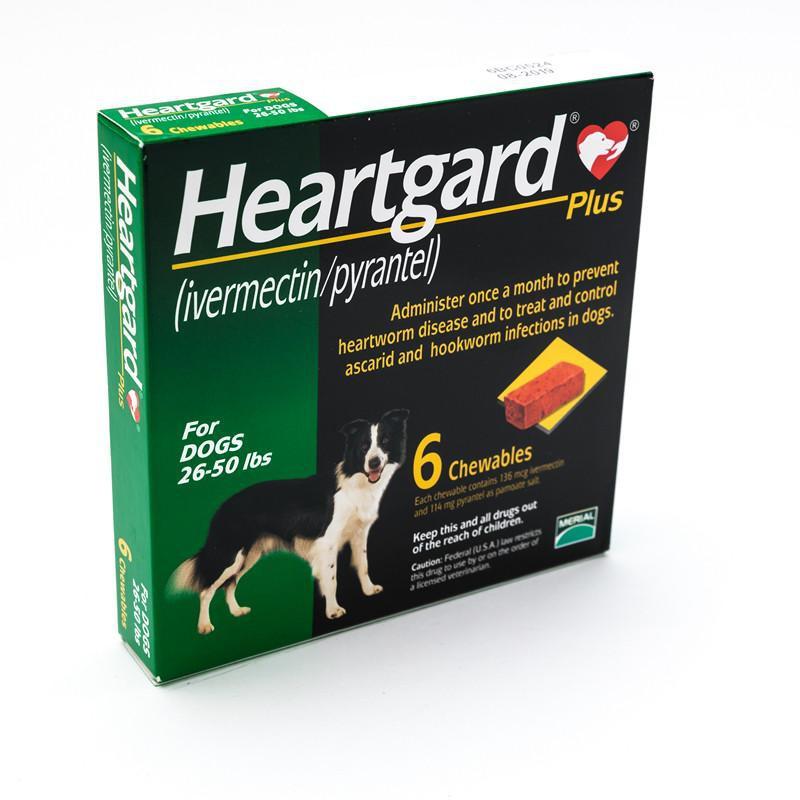 Heartgard Plus 26-50 lbs / Viên nhai phòng bệnh giun tim cho chó từ 11.5 - 22.5kg (1 viên/tháng) - 2828623 , 612302955 , 322_612302955 , 82000 , Heartgard-Plus-26-50-lbs--Vien-nhai-phong-benh-giun-tim-cho-cho-tu-11.5-22.5kg-1-vien-thang-322_612302955 , shopee.vn , Heartgard Plus 26-50 lbs / Viên nhai phòng bệnh giun tim cho chó từ 11.5 - 22.5kg (1