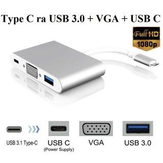[Mã ELFLASH5 giảm 20K đơn 50K] Cáp Chuyển Type-C ra USB 3.0, VGA, Type-C
