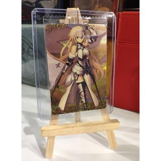 Thẻ bài sưu tầm bánh xốp Fate Grand Order FGO Jeanne d' Arc SR – Secret Rare – Tặng bọc bài nhựa bảo quản