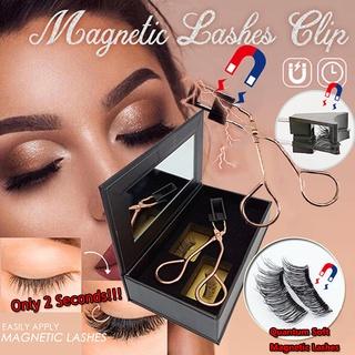 Handmade NEW DESIGN Magnetic Eyelash Curler with Quantum Magnetic False Eyelashes Set Easy to Wear Magnetic Lashes Set Quantum magnetic eyelash set