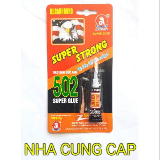 Keo siêu dính Super Strong sử dụng trên mọi chất liệu