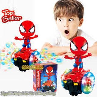 Đồ chơi người nhện đi xe thăng bằng có đèn nhạc loại lớn