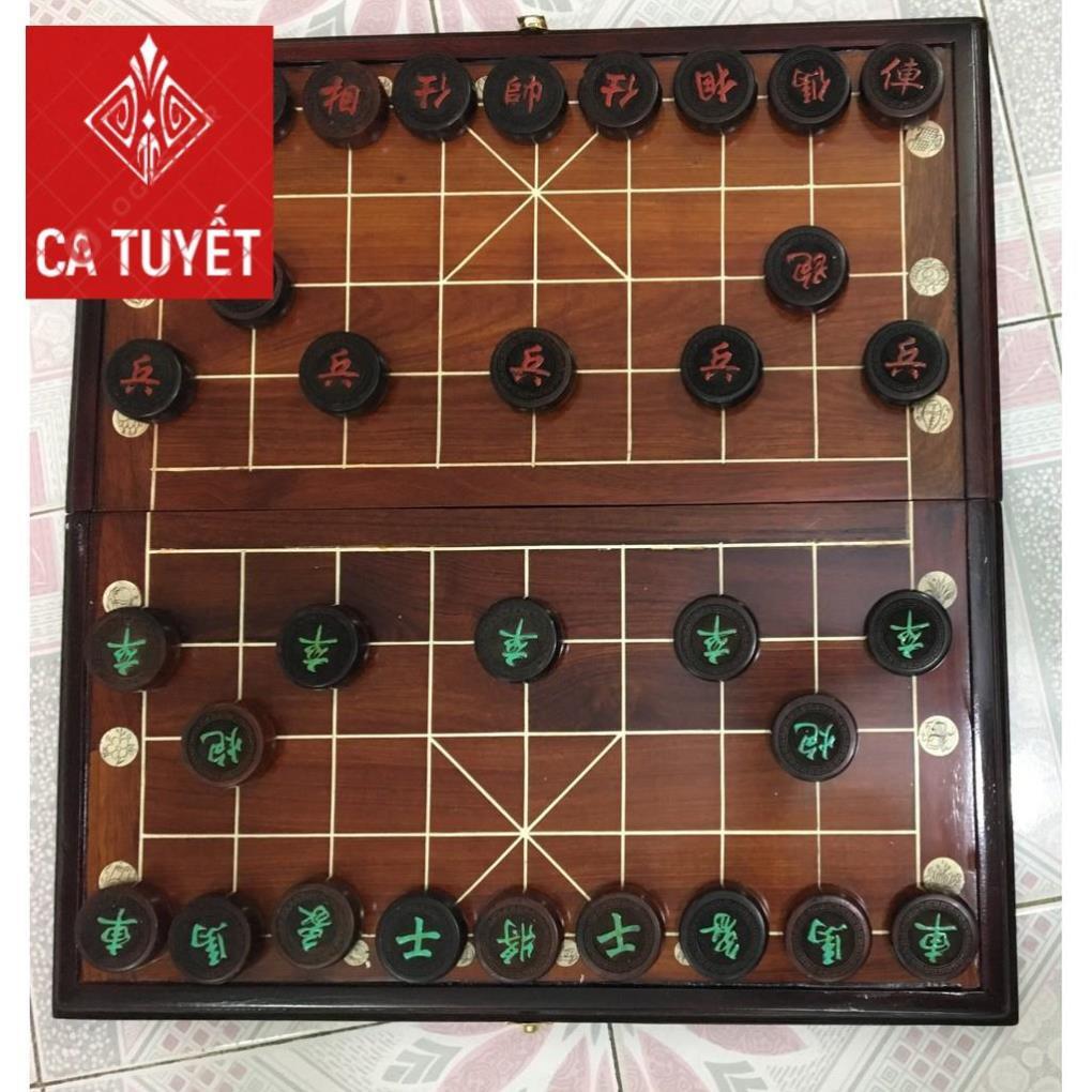 [FREESHIP] Bộ bàn cờ tướng bằng gỗ trắc, gỗ hương cao cấp