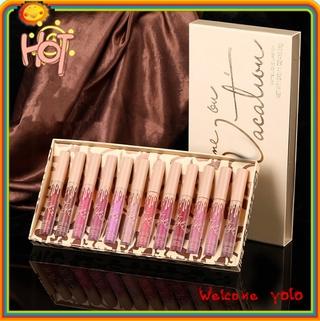 Yolo ❤ Kylie 12 lip glaze suit nữ Li Jiaqi giới thiệu son môi mờ nhung không thấm nước