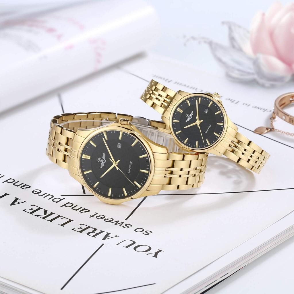 Đồng Hồ Đôi Chính Hãng SRWATCH Couple-F SR80071.1401CF mặt kính sapphire sang trọng