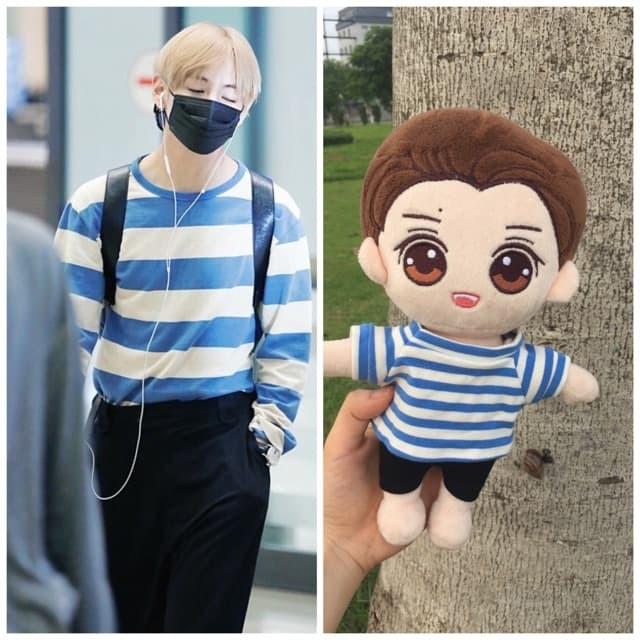Set Kim Tae Hyung sọc xanh [outfit for doll]