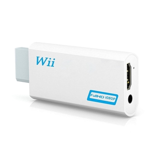 Full HD 1080P Wii to HDMI-compatible Converter Adapter Wii2HDMI Converter 3.5mm Audio for PC HDTV Monitor Display