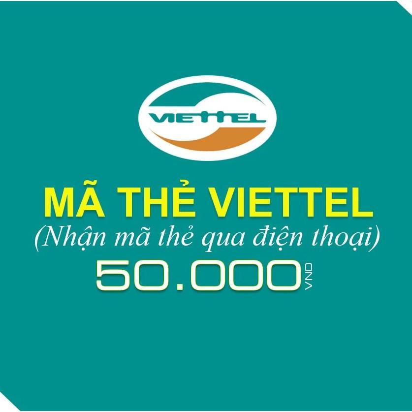 [HOTHOT]Thẻ điện thoại Viettel 50K - Rẻ nhất Shopee - Nạp trong 1 phút