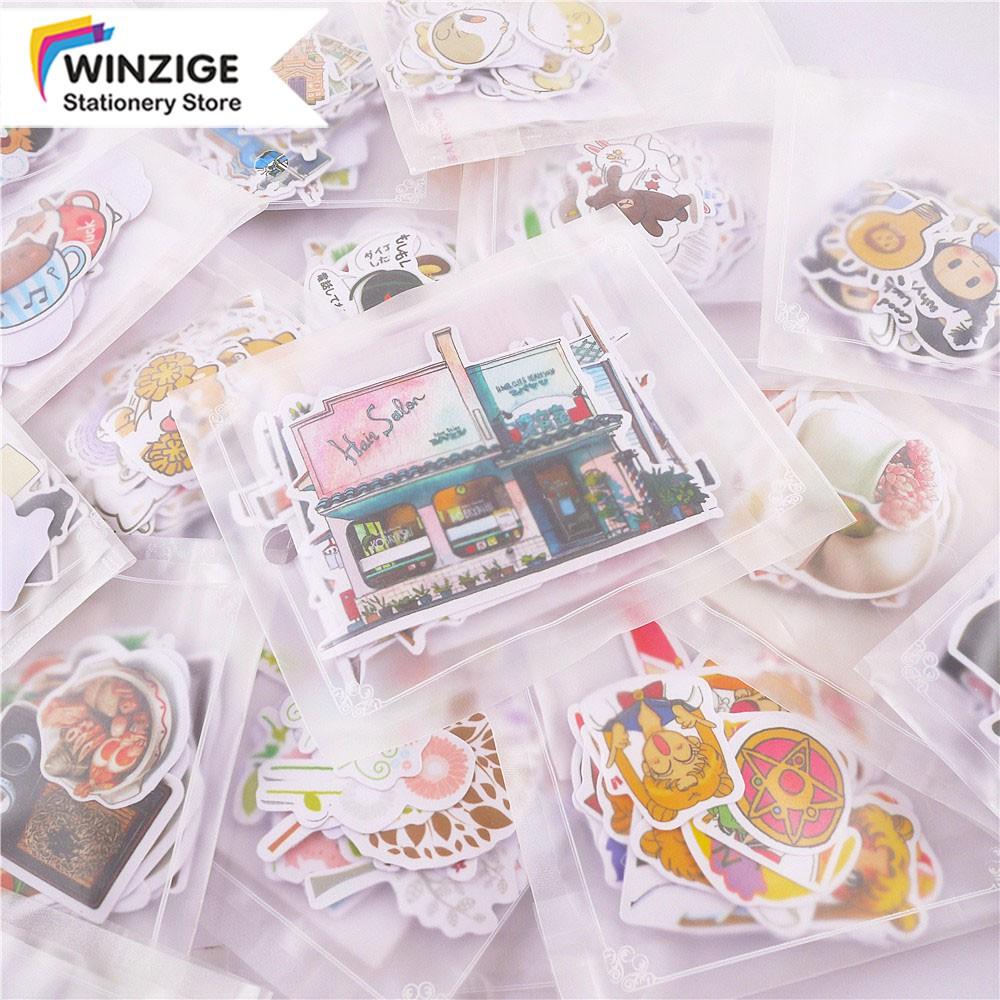Winzige Set 10-40 miếng dán họa tiết hoạt hình dùng để trang trí đa năng