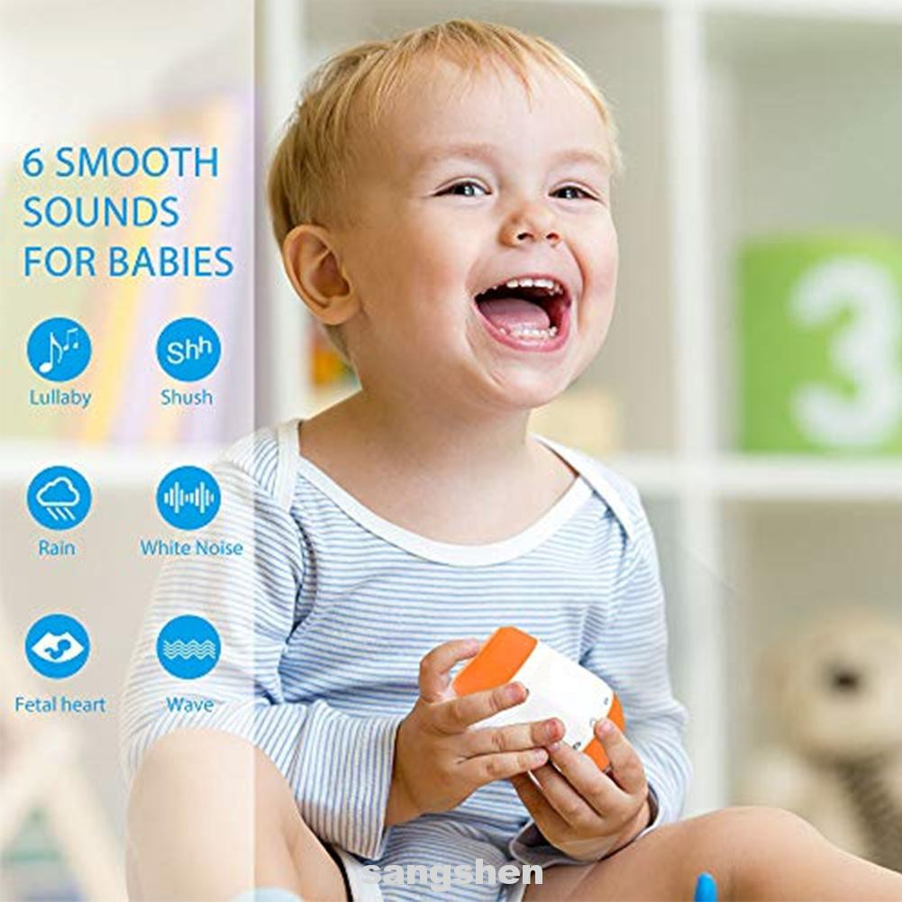 Sleep Soother Baby Voice Sensor Infants Music Portable Rechargeable Smart White Noise