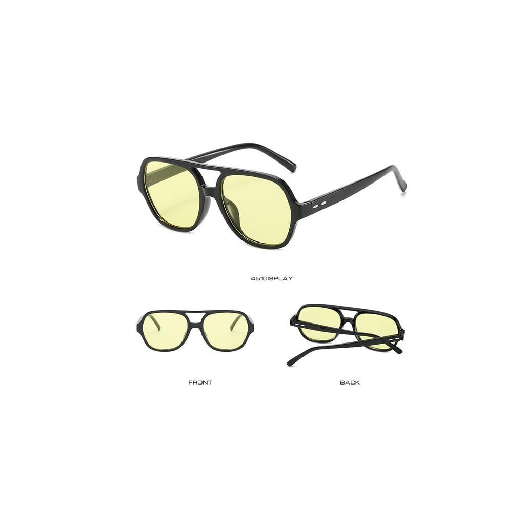 Kính mát nam nữ Flack bee chống UV400, thiết kế mắt dễ đeo, màu sắc thời trang 2000