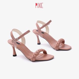 Sandal Cao Gót 7cm Gót Nhọn Quai Thắt Bím Pixie X580