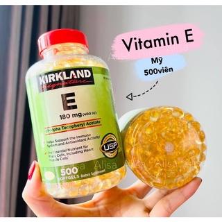 [Mã SKAMPUSHA8 giảm 8% đơn 300K] Viên uống Vitamin E 400 IU Kirkland Mỹ 500 viên - ALISA thumbnail