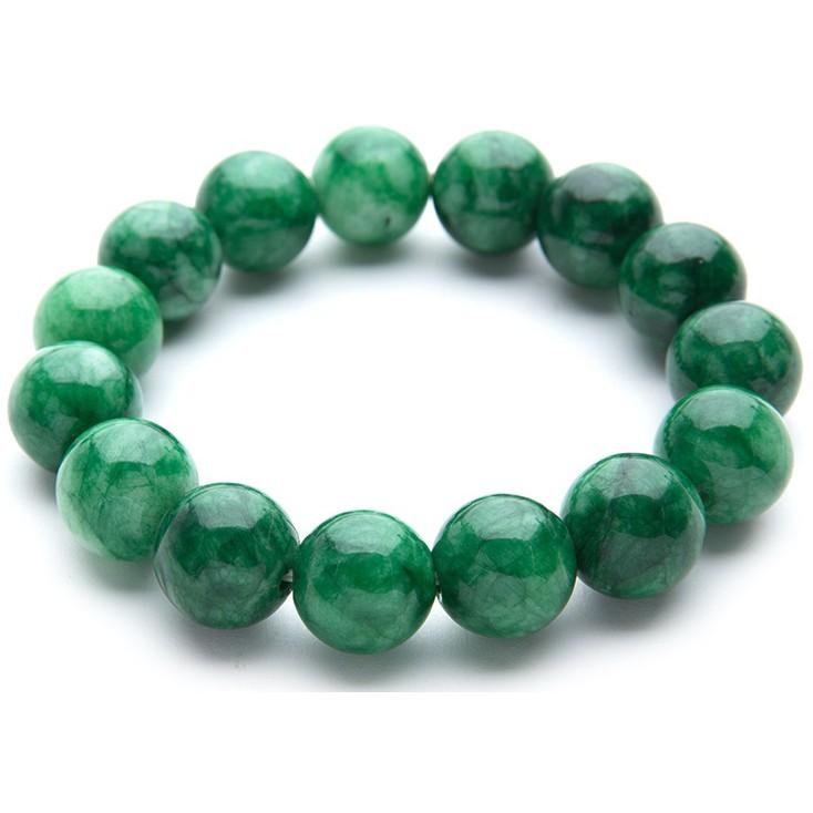 Vòng tay phong thủy đá xanh có vân tài lộc may mắn