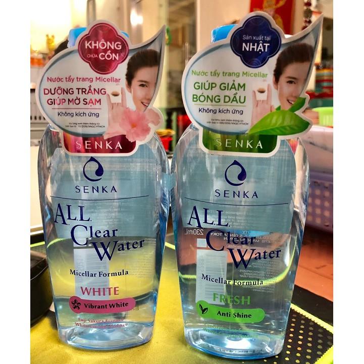Nước tẩy trang Micellar Senka ALL Clear Water 230ml