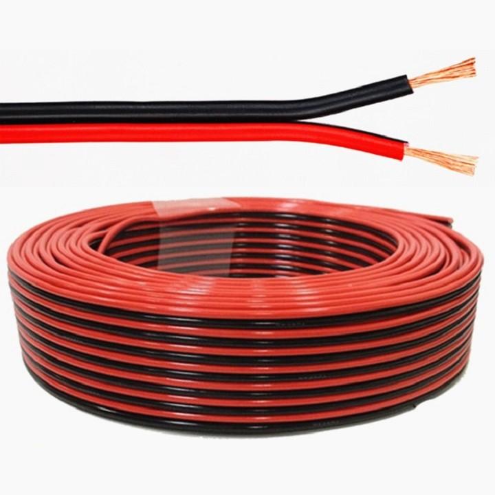 Dây Loa thùng Loa Treble - Dây dẫn điện, dẫn tín hiệu màu đỏ đen
