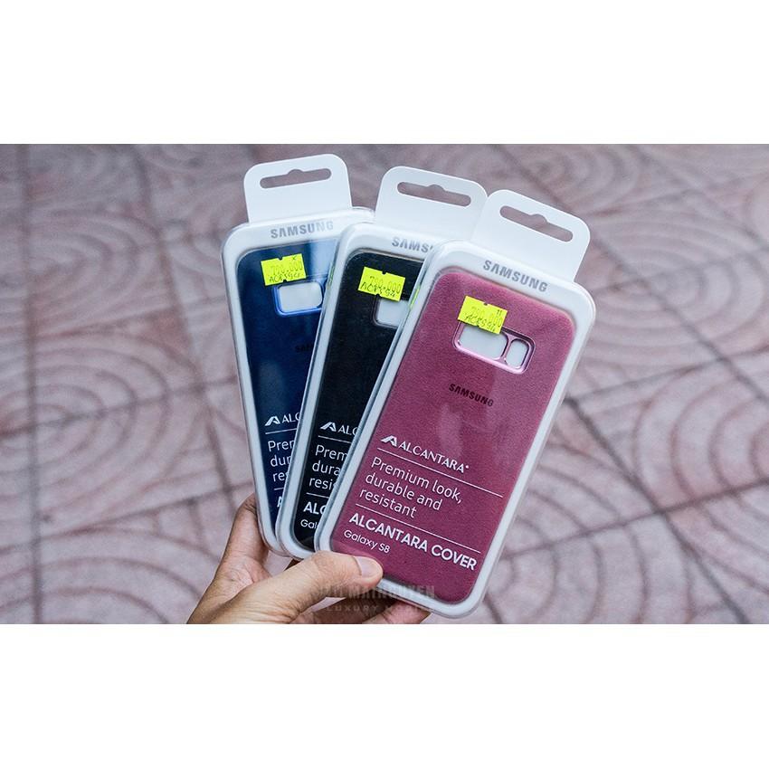 Ốp lưng Samsung Alcantara S8 chính hãng chất liệu mềm mịn