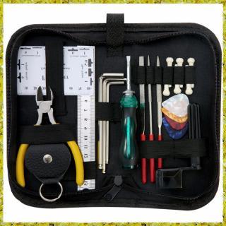 Guitar Repairing Tool Maintenance Cleaning Tool Kit String Organizer Action Ruler Gauge Measuring