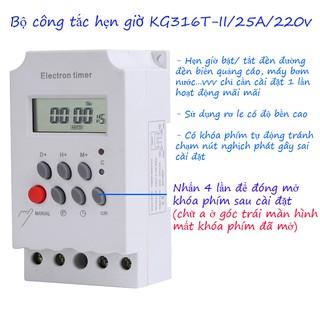 Bộ công tắc hẹn giờ bật tắt thiết bị điện KG316 T-II 16 chương trình, đồng hồ hẹn giờ bật tắt, timer hẹn giờ bật tắt thumbnail