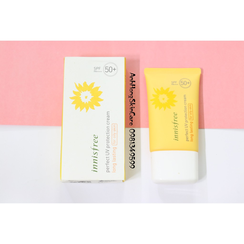 Kem Chống Nắng Innisfree Pefect UV Protection cream Long Lasting Oily Skin SPF50+