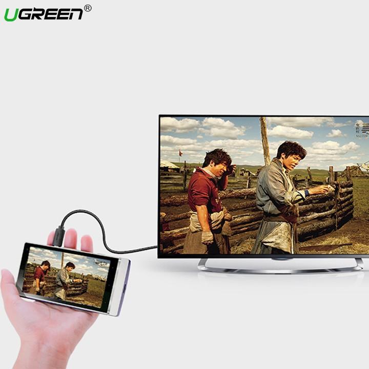 Cáp Micro HDMI to HDMI dài 3m cao cấp UGREEN 30104 - Hàng chính hãng bảo hành 18 tháng