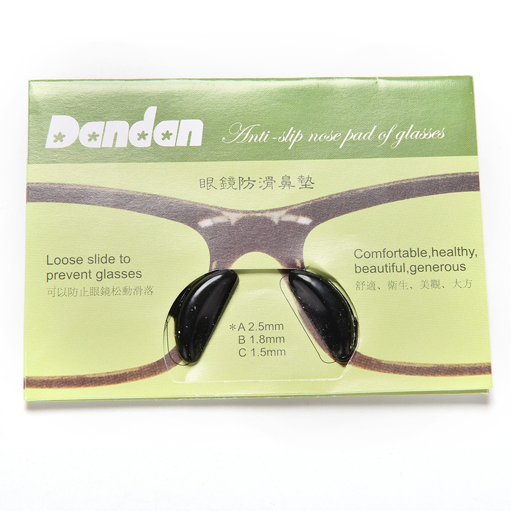 [factoryoutlet]5 Pairs Anti-Slip Silicone Nose Pads for Eyeglass Sunglass Glasses Spectacles Cool