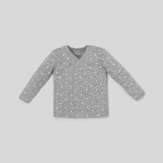 Áo sơ sinh unisex BAA BABY đắp chéo màu xám họa tiết ngôi sao xinh xắn cho bé trai và bé gái - UN-AL01D-001XA thumbnail