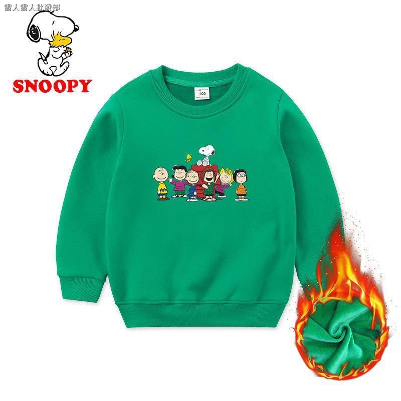 Áo Sweater Nhung Dày In Hình Snoopy Cho Nữ