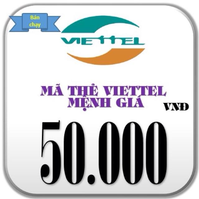 Thẻ nạp tiền viettel 50k