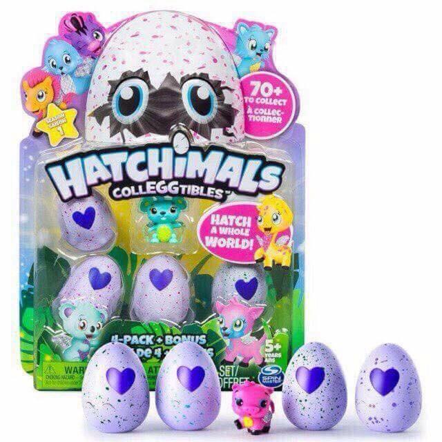 Bộ đồ chơi trứng nở ( 4 trứng )