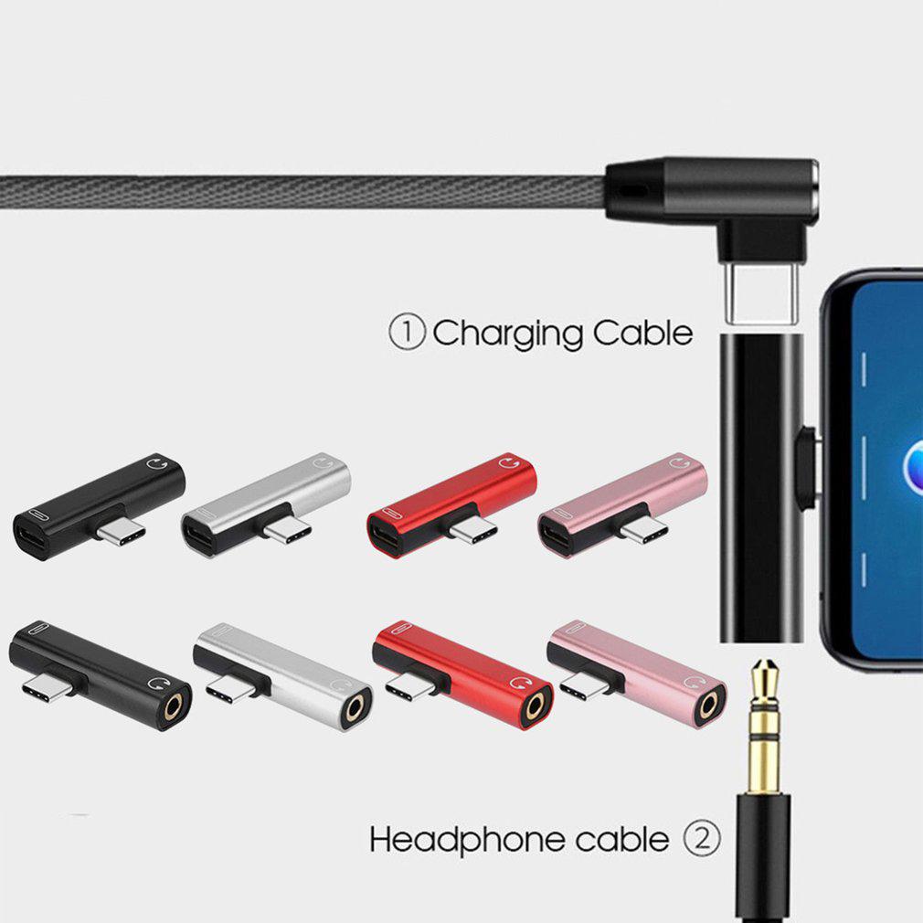 Đầu Chuyển Đổi Âm Thanh 2 Trong 1 Type-C Sang 3.5mm Cho Huawei Mate30 Oneplus 7 Pro