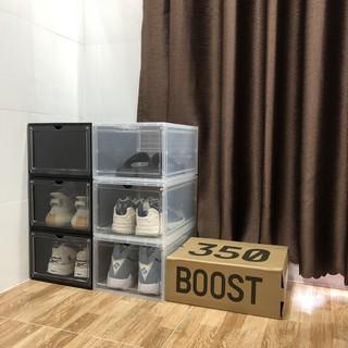 Hộp Đựng Giày Nhựa Cứng 100%, Hop Dung Giay Cửa Nam Châm Hàng Loại I