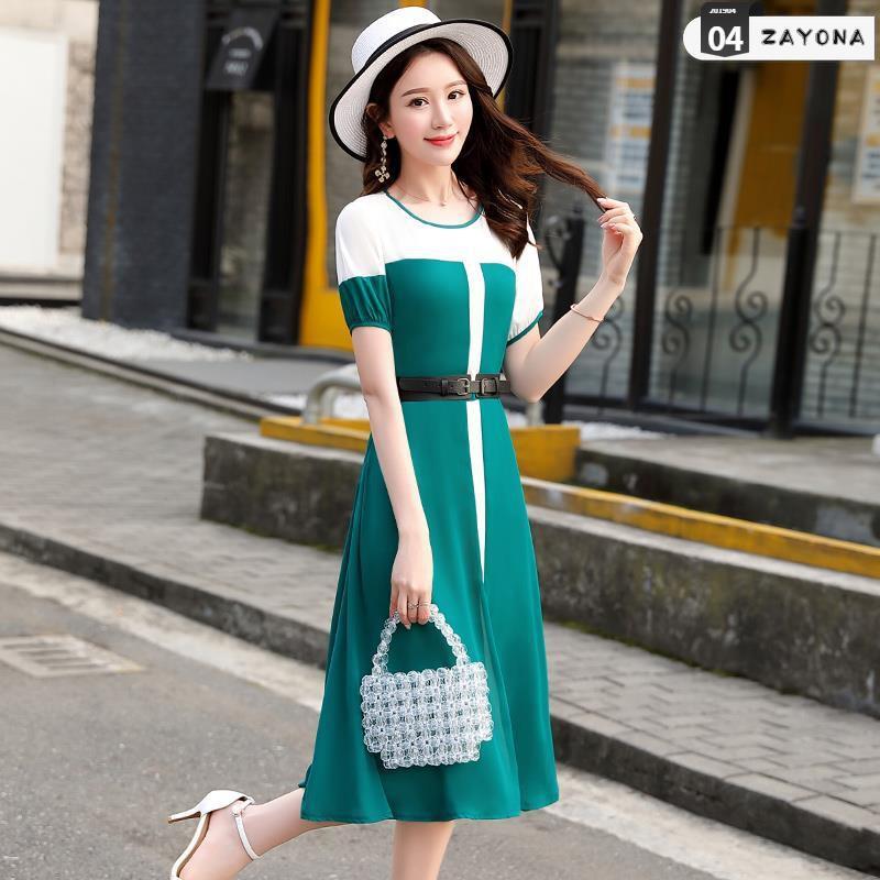 Đầm dự tiệc đầm voan nữ 2019 hè mới dành cho nữ thời trang Hàn Quốc phổ biến váy mùa hè
