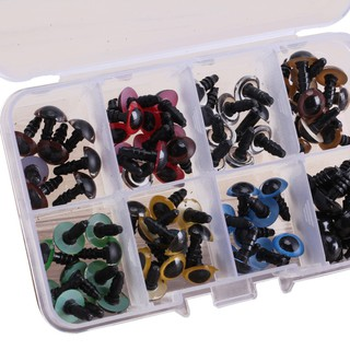 80pcs 8 Colors 10mm Bears Plastic Eyes Washers Doll Crafts