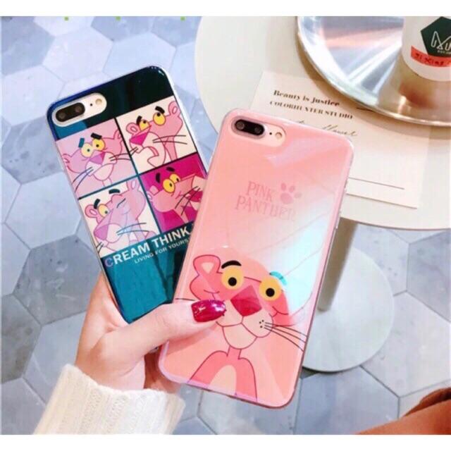 ỐP SILICON ÁNH XÀ CỪ PINK PANTER CAO CẤP IPHONE 6 6s 6plus 7 7plus 8 8plus X