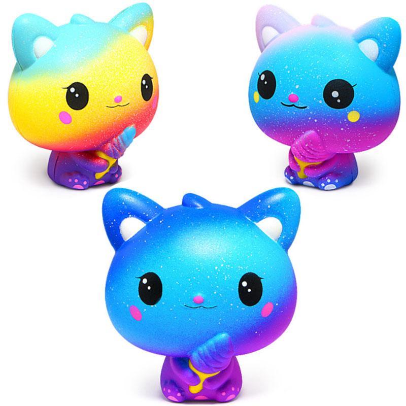 Đồ chơi nắn bóp hình chú mèo dễ thương dùng giảm căng thẳng mệt mỏi