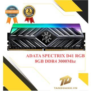 [Mã SKAMCLU9 giảm 10% đơn 100K] Ram máy tính ADATA SPECTRIX D41 RGB 8GB (1x8GB) DDR4 3000Mhz ( Grey ) thumbnail