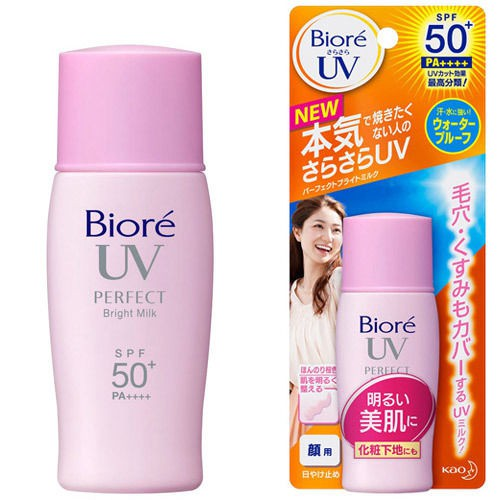 Kem chống nắng Biore Bright Face Milk