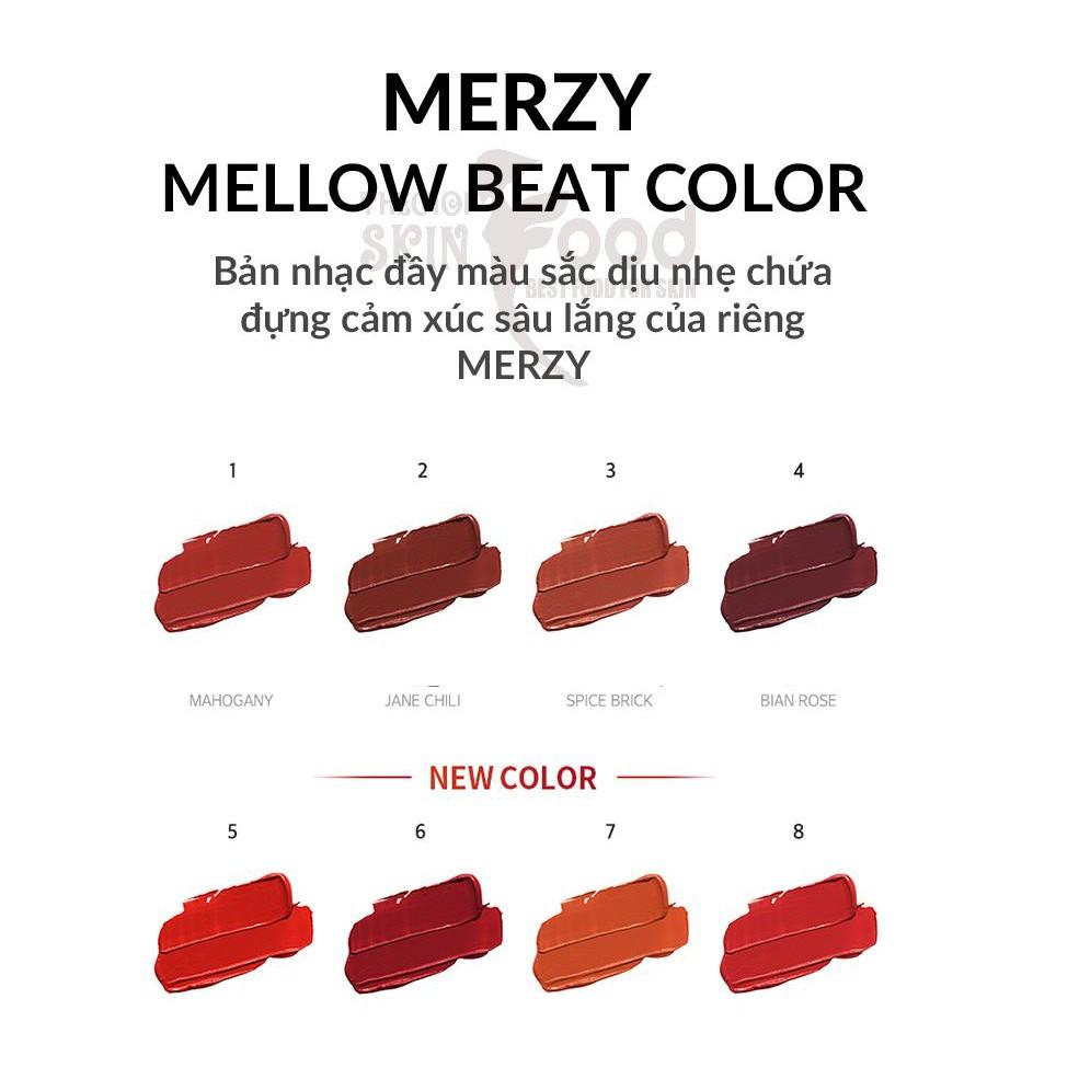 Son Kem Lì, Siêu Mịn Merzy Bite The Beat Mellow Tint 4g