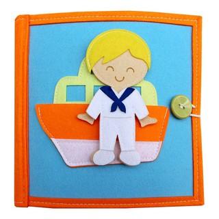 [Sách Xuất Khẩu] Sách vải Nghề Nghiệp Quanh Em (B) – Dành cho bé trai từ 1 – 10 tuổi