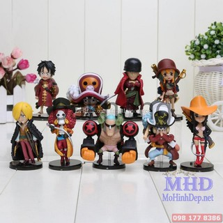 [Nhập mã TOYJUNE giảm 10K][MHĐ] Bộ mô hình Băng Mũ Rơm 9 nhân vật – One Piece bakhong