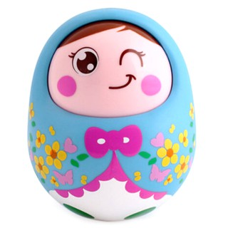 HEL❤ Baby toys rattles tumbler doll sweet bell music learning educational
