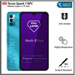 Kính cường lực toàn màn hình chống ánh sáng xanh cho Tecno Spark 7 NFC thumbnail